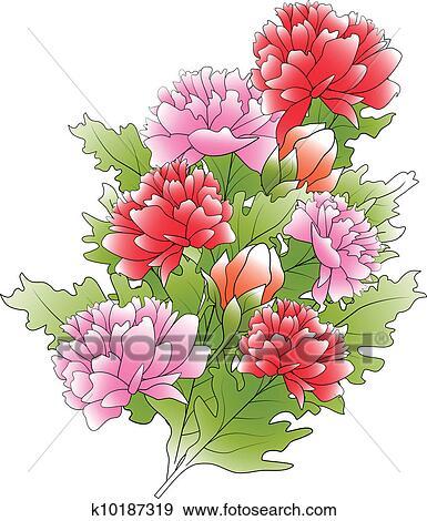 剪贴画 - 花, 束图片