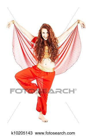Stock Photo of Sexy arabian dancer - Isolated k10205143 - Search ...