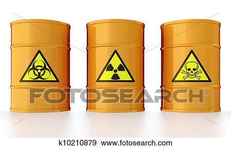 Stock Illustration of Barrel with toxic waste k10210879 ...
