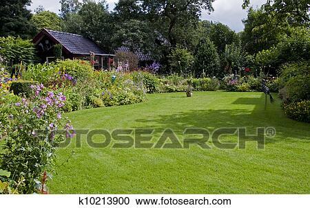 Stock photography of english garden k10213900 search for English garden wall mural