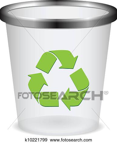Recycle trash cans clipart