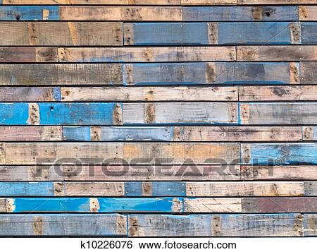 Stock images of grungy blue painted wood planks of - Exterior textured paint for wood pict ...