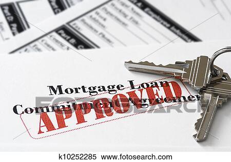 Banque d 39 image immobiliers hypoth que approuv pr t document k10252 - Hypotheque maison pour pret ...