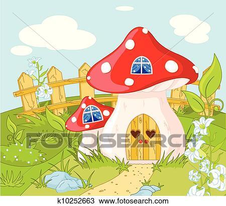 手绘图 - 房子, 在中,