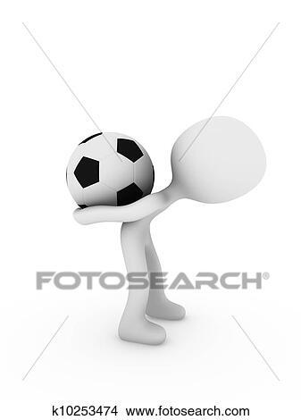 手绘图 - 英式足球表演者.图片