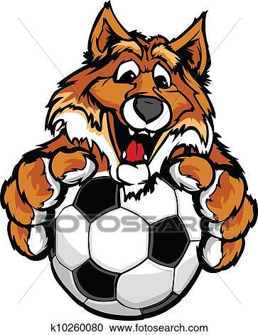Clipart mignon heureux renard mascotte boule - Clipart renard ...