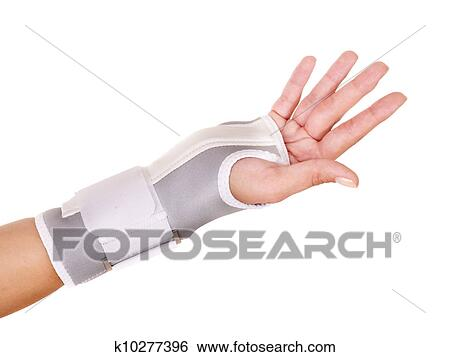 stock images of trauma of wrist in brace k10277396 search stock photography poster photos. Black Bedroom Furniture Sets. Home Design Ideas