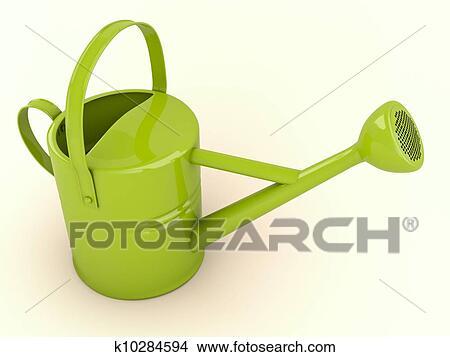 手绘图 - 绿色, 喷壶图片