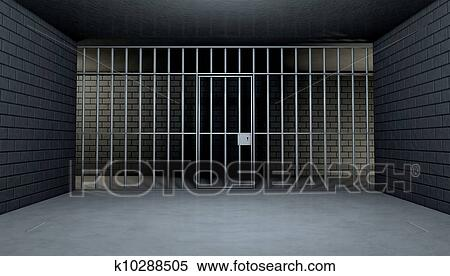Stock Image of Empty Jail Cell Looking Out k10288505 - Search ...