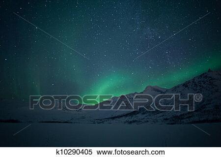 Stock Image of Northern lights (Aurora Borealis) k10290405 ...
