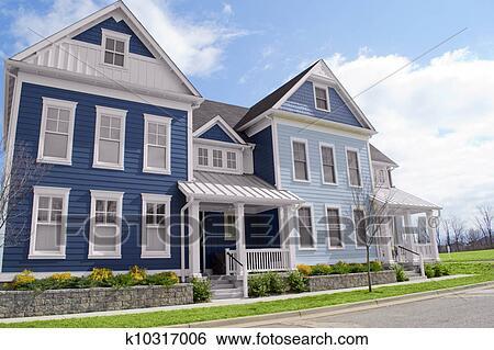New England Homes Clip Art