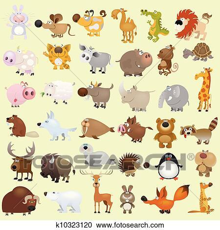 Clipart grande cartone animato serie animale k10323120 - Animale cartone animato immagini gratis ...