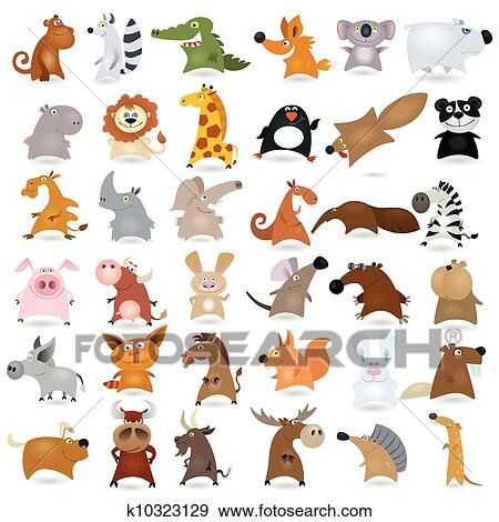 Clip art grande cartone animato animale k10323129 - Animale cartone animato immagini gratis ...