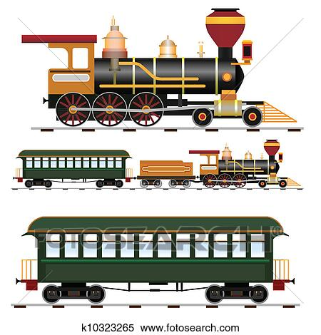 Clipart of Steam train k10323265 - Search Clip Art ...