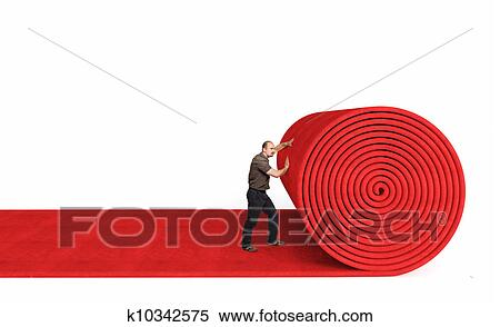 Banque d 39 image rouler moquette rouge k10342575 for Moquette rouge texture