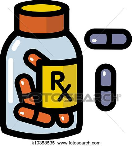 Stock Illustration of Illustration of prescription drugs k10358535 ...