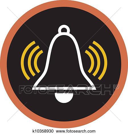Banque d 39 illustrations dessin de une reveil cloche - Dessin d une cloche ...