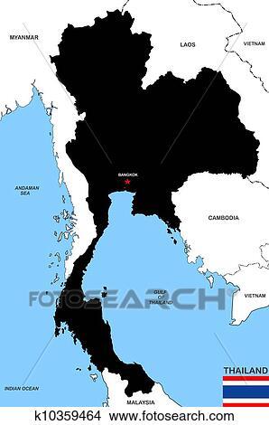 手绘图 - 泰国, 地图