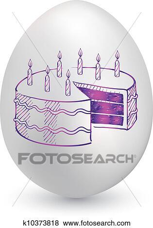 生日蛋糕, 蛋 竖