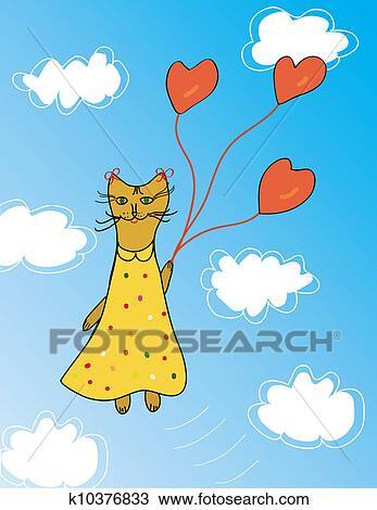 手绘图 - 猫, 有趣, 卡片图片