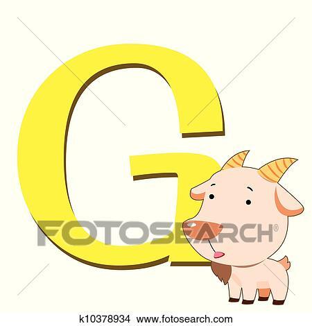 剪贴画 - 动物, 字母表