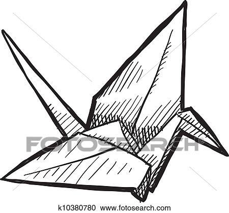 clipart origami oiseau croquis k10380780 recherchez des clip arts des illustrations des. Black Bedroom Furniture Sets. Home Design Ideas
