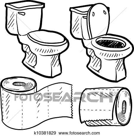 Clip art badezimmer gegenst nde skizze k10381829 for Badezimmer clipart