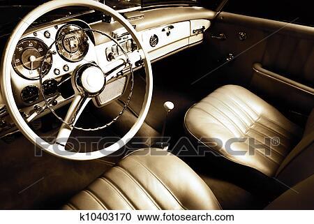 Banques de photographies voiture luxe int rieur for Interieur de voiture de luxe