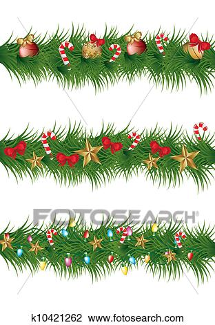 Clipart of christmas garland k10421262 - Search Clip Art ...