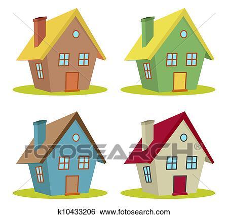剪贴画 - 四, 房子