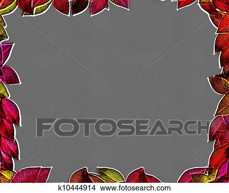 手绘图 - 3d, 秋季树叶