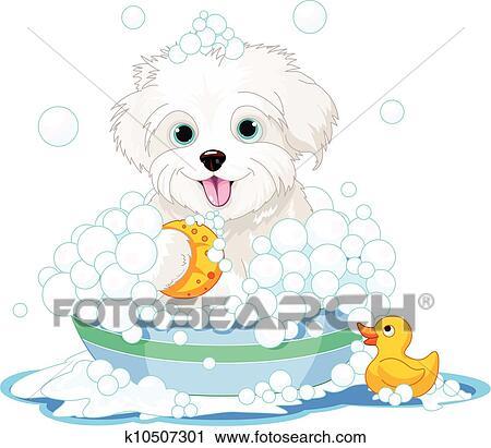 Dog bath Clip Art Illustrations. 771 dog bath clipart EPS vector ...