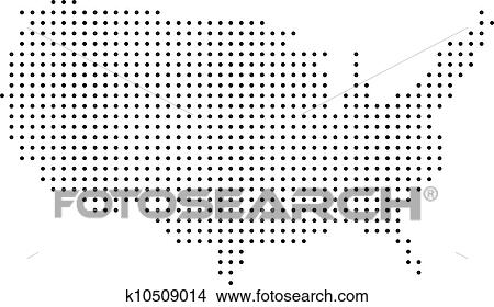 Clipart Of Dotted USA Map K Search Clip Art - Usa map eps