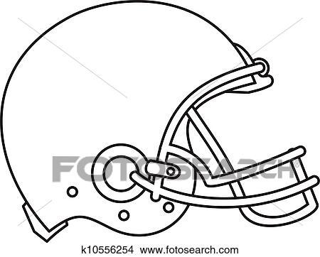 Clipart football am ricain casque dessin ligne k10556254 recherchez des clip arts des - Dessin football americain ...