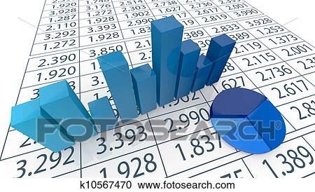 Stock Illustrations Of Concept Of Financial Analysis K