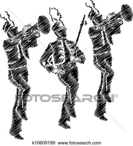 Clip Art Marching Band Clipart marching band clip art and illustration 461 clipart orchestra illustration