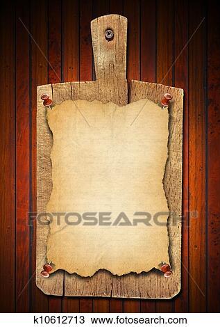 dessin vieux cahier planche d couper sur bois fond k10612713 recherchez des cliparts. Black Bedroom Furniture Sets. Home Design Ideas