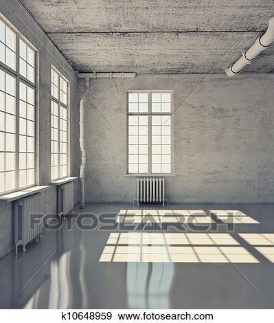 Stock fotograf leeres zimmer k10648959 suche stock for Leeres zimmer