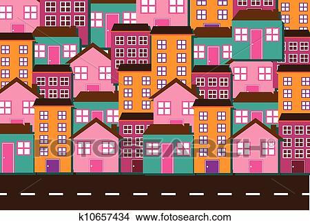 剪贴画 房子, 矢量