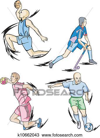 剪贴画 组体育运动