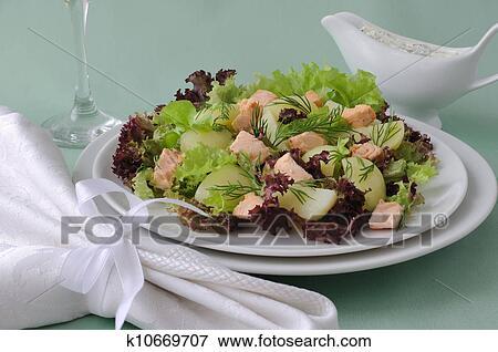 салат лососиный остров с фото