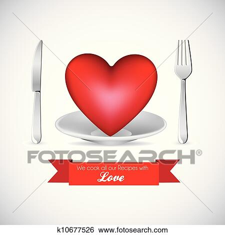 Clip Art of I love food k10677526 - Search Clipart ...