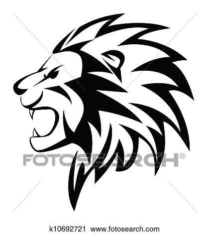 Clipart Of Lion Roar K10692721 Search Clip Art