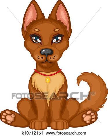 剪贴画 - 漂亮, 小狗