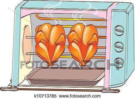 Clipart poulet r ti k10713785 recherchez des clip arts des illustrations des dessins et - Dessin de poulet roti ...