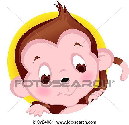 Little Monkey Murals Cute Little Monkey