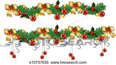 clipart weihnachtsgirlande k10737035 suche clip art. Black Bedroom Furniture Sets. Home Design Ideas