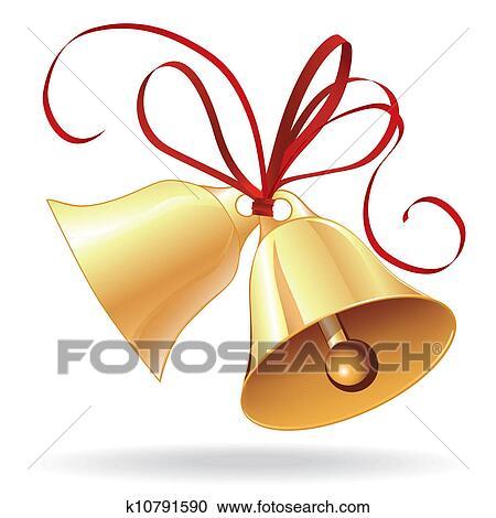 clipart glocke goldenes f r weihnachten oder. Black Bedroom Furniture Sets. Home Design Ideas