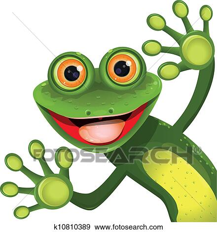 Clipart of Friendly Frog k1968072 - Search Clip Art, Illustration ...
