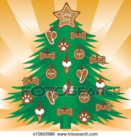 Clip Art - mein, hunde, liebling, weihnachtsbaum k10853986 - Suche Clipart, Poster ...